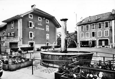 Saint genis et l'ancienne place de la fontaine
