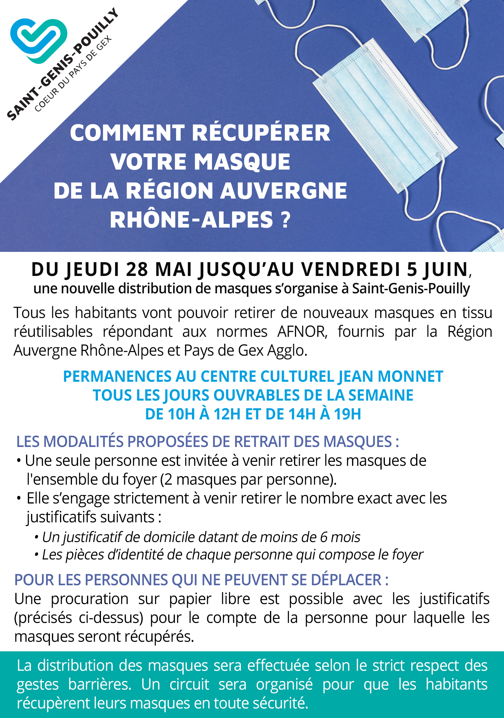 Flyer - distribution masques - Région
