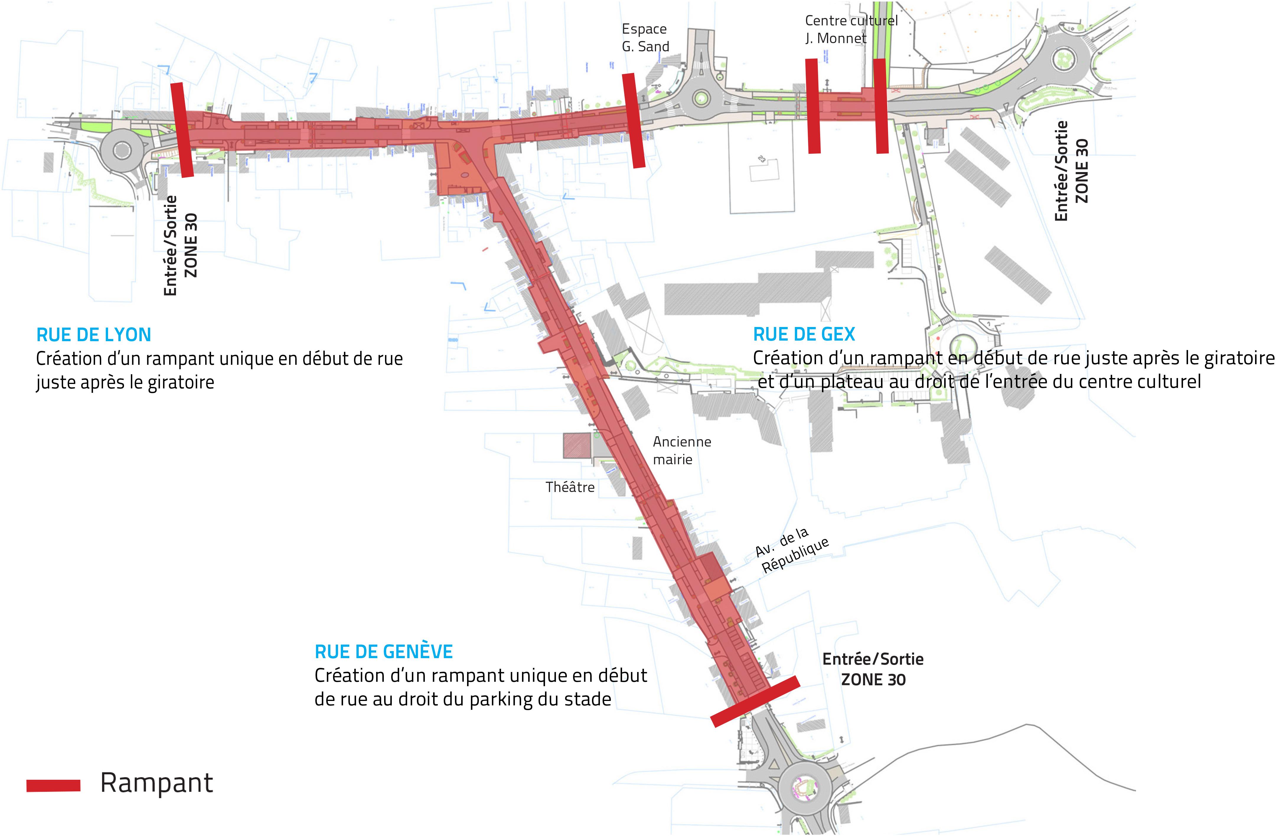 plan des zones de travaux